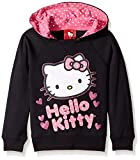 Hello Kitty Little Girls' Character Hoodie, Black, 5