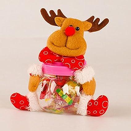 doolland Navidad Candy tarro para azúcar caja de plástico de peluche Hucha Moneda recipiente decorativo azúcar