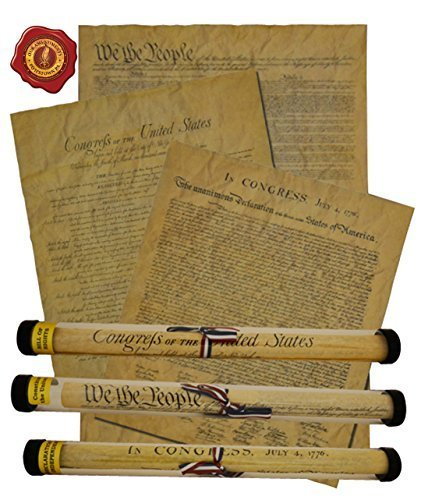 Constitution Framed (Documents of Freedom Bundle. FULL SIZE Declaration of Independence, United States Constitution and the Bill of Rights.)