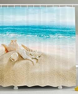 Ambesonne ocean decor collection starfish for Seascape bathroom ideas