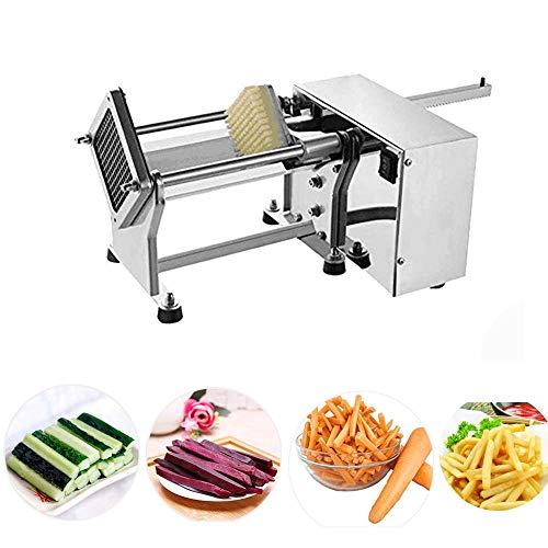 Li Bai Electric French Fry Cutter Commercial Potato Slicer Vegetable Chopper Fries Chip Maker for Tornado Potatoes Making (Auto) 3 sizes of replaceable blades DHL Shipping by Li Bai (Image #1)