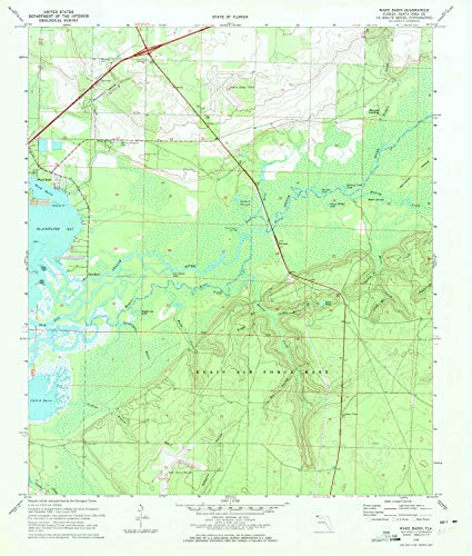 (YellowMaps Ward Basin FL topo map, 1:24000 Scale, 7.5 X 7.5 Minute, Historical, 1970, Updated 1972, 27 x 23 in -)