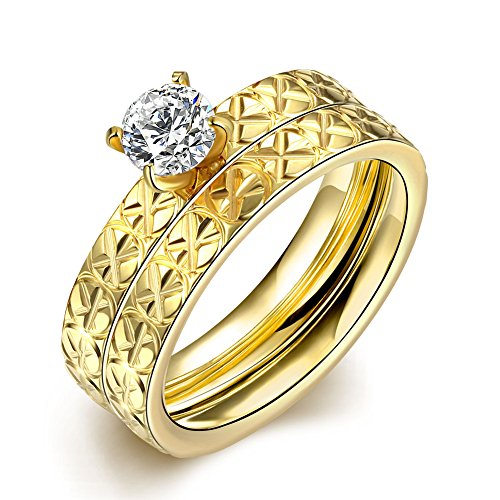 Retop Jewelry 18K Gold Plated Diamonds Womens Wedding Rings Engagement Rings For Girl LKN057 (9)