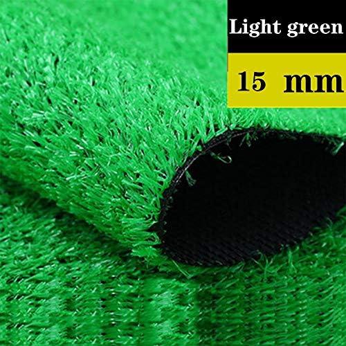 GAPING 人工芝高品質合成草屋内屋外バルコニーグリーンカーペットマット増加厚さと密度高15ミリ3色で利用可能 (Color : Light green, Size : 2x0.5m)