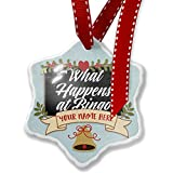 Add Your Own Custom Name, Classic design What Happens at Bingo Christmas Ornament NEONBLOND