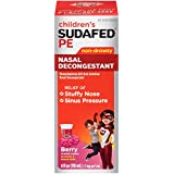 Children's Sudafed PE Nasal Decongestant, Raspberry-Flavored, Liquid  4 Oz