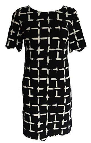Get The Trend - Robe - À Carreaux - Manches Courtes - Femme Noir Noir/blanc