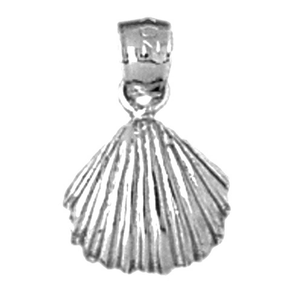 Rhodium-plated 925 Silver Shell Pendant with 30 Necklace Jewels Obsession Shell Necklace