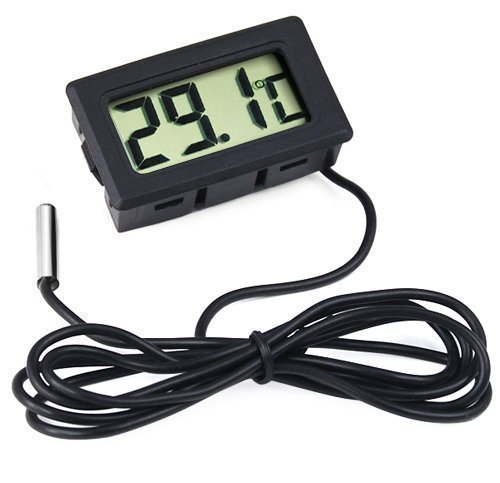 Accessotech Digital LCD Thermometer for Fridges Freezers Coolers Chillers Mini 2M Probe