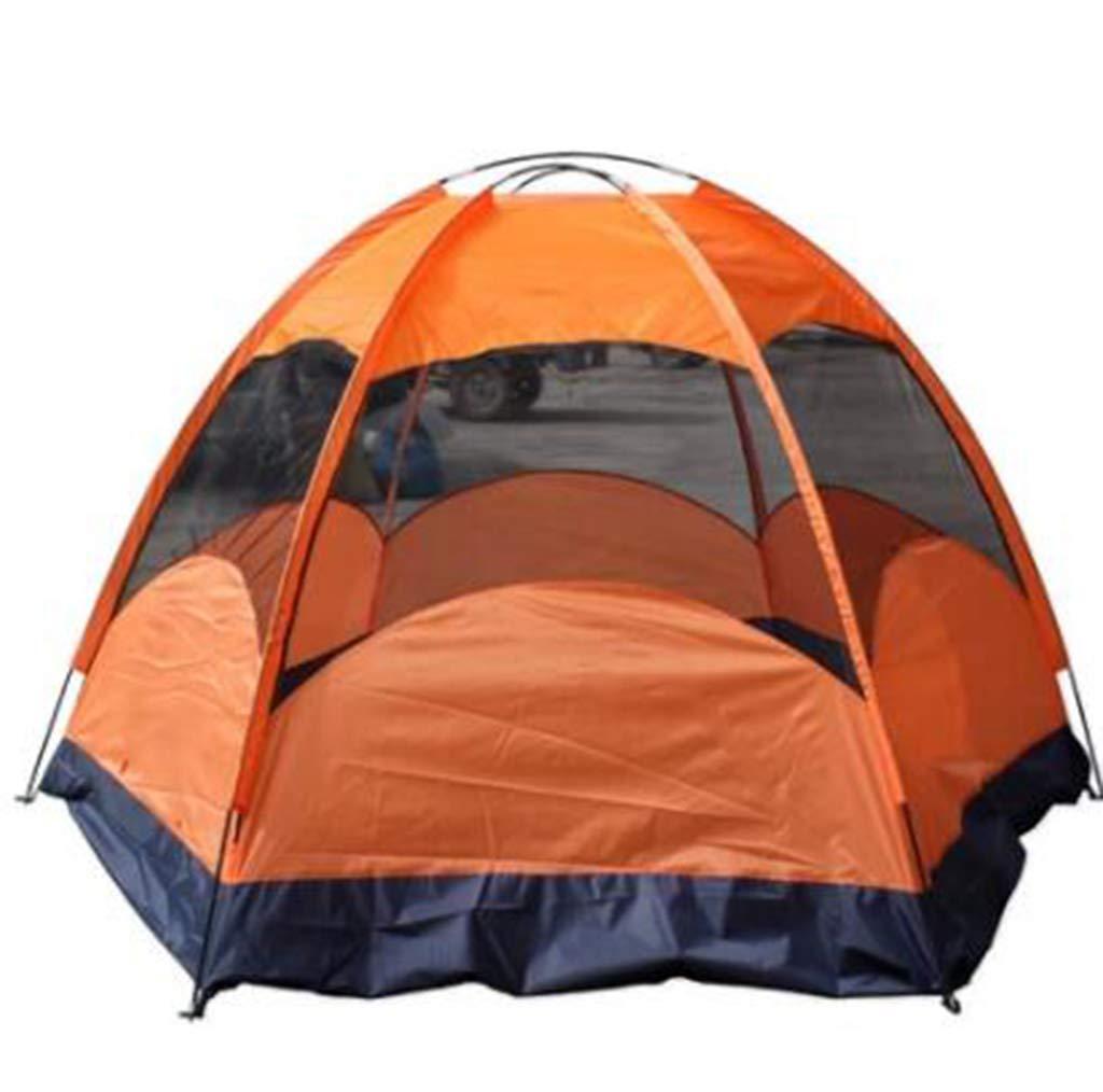 Z-P 5-8 Personnes Ingénierie Toile Hexagone Tente Tente Double Tente De Pluie Tente De Camping Tente Extérieure Tente Solaire Tente