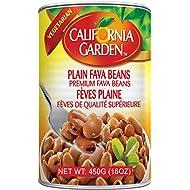 California Garden - Premium Fava Beans, Plain (6 Pack) 16oz x 6