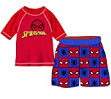 Marvel Boys Spider-Man 2-Piece Swim Set, Toddler