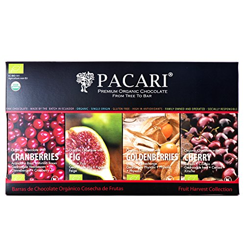Pacari Organic Fruit Harvest Flavor Collection
