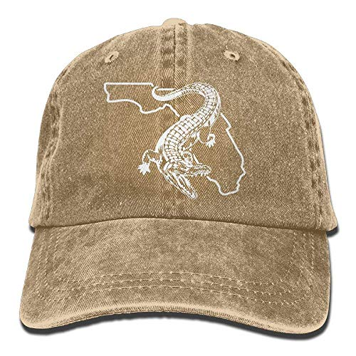 Florida Gator Gators Fishing Dad Hat Adjustable Denim Hat Classic Baseball Cap
