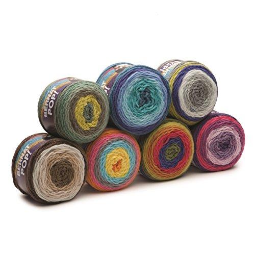 Bernat Pop Worsted Weight Self-Striping 3-Pack Acrylic Yarn 5 Ounces 280  Yards (Blue Blaze)