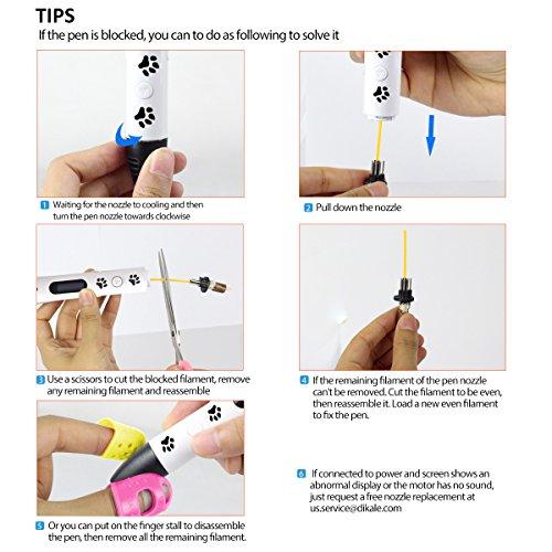 3D Pen - Dikale 05A【Newest Design】3D Doodler Drawing Printing Printer Pen Bonus 250 Stencils eBooks for Kids Adults Arts Crafts Model DIY, Non-Clogging by dikale (Image #7)