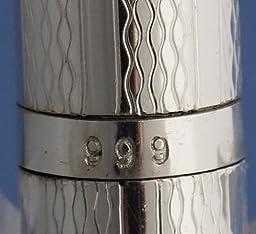 Nisstiiv 999 Sterling Silver Pocket Dunes Ballpoint Pen Perfect for Purse Handbag Travel