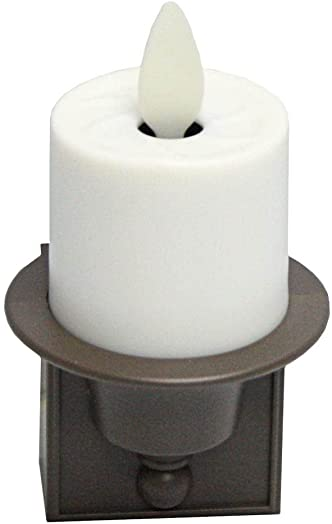 Liown 14253 – 2.1 x 3 Ivory Unscented Straight Edge Moving Flame LED Matte Plastic Candle Night Light
