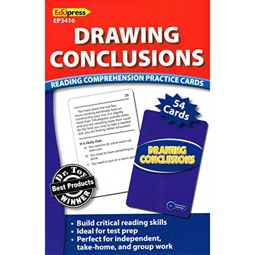 Edupress Reading Comprehension Practice Cards, Drawing Conclusions, Blue Level (EP63416)