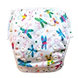 Leakproof Washable Reusable Swim Diapers For Kids 0 to 3 Years (Butterfly)