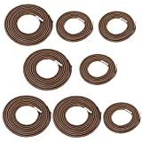 Universal 8 Replacement Cords for Zero Gravity Chair Replacement Laces Premium Bungee Ropes Recliner Repair Parts for Lounge Chair Anti Gravity Chair Bungee Chair (Coffee, 8 Cords(4 Longs + 4 Shorts)