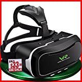 VR headset ( VR goggles / VR glasses )/ Virtual Reality headset for iPhone 7 , 6 , 5 , iPhone Plus & Android ( Samsung Galaxy , Google , HTC , & LG …) mobiles , best for 3D games and movies