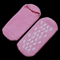 Pink Moisturize Soften Repair Cracked Skin Moisturizing Treatment Gel Spa Socks