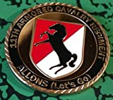 Military 11th Armored Cavalry Regiment Allons Colorized Challenge Art Coin