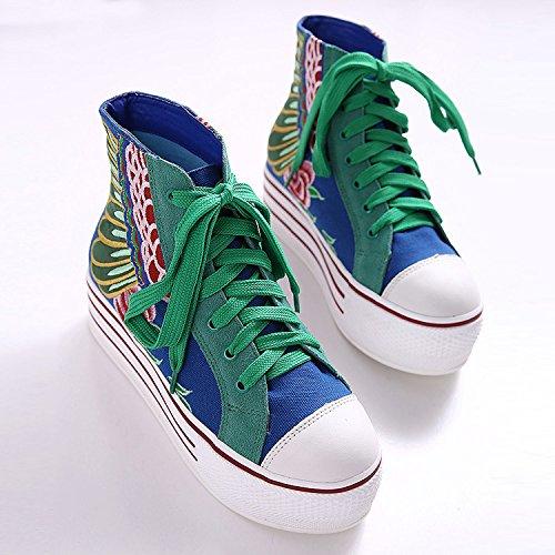 panecillo mayorLuz suelas GTVERNH verdeTreinta zapatos ocho casuales cinco con Treinta y Zapatos y gruesas BqTBwnUAZ