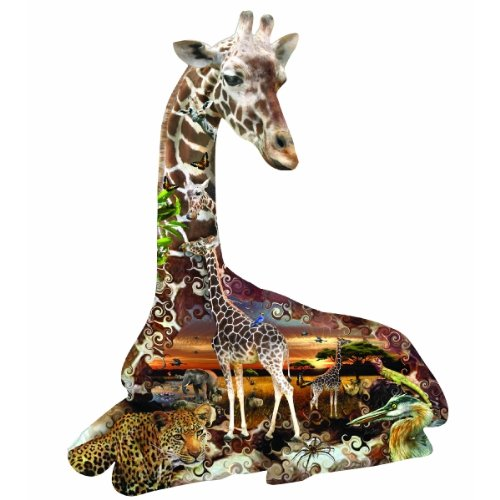 Puzzle Animals Shaped Zoo (African Spots 700 pc Jigsaw Puzzle)