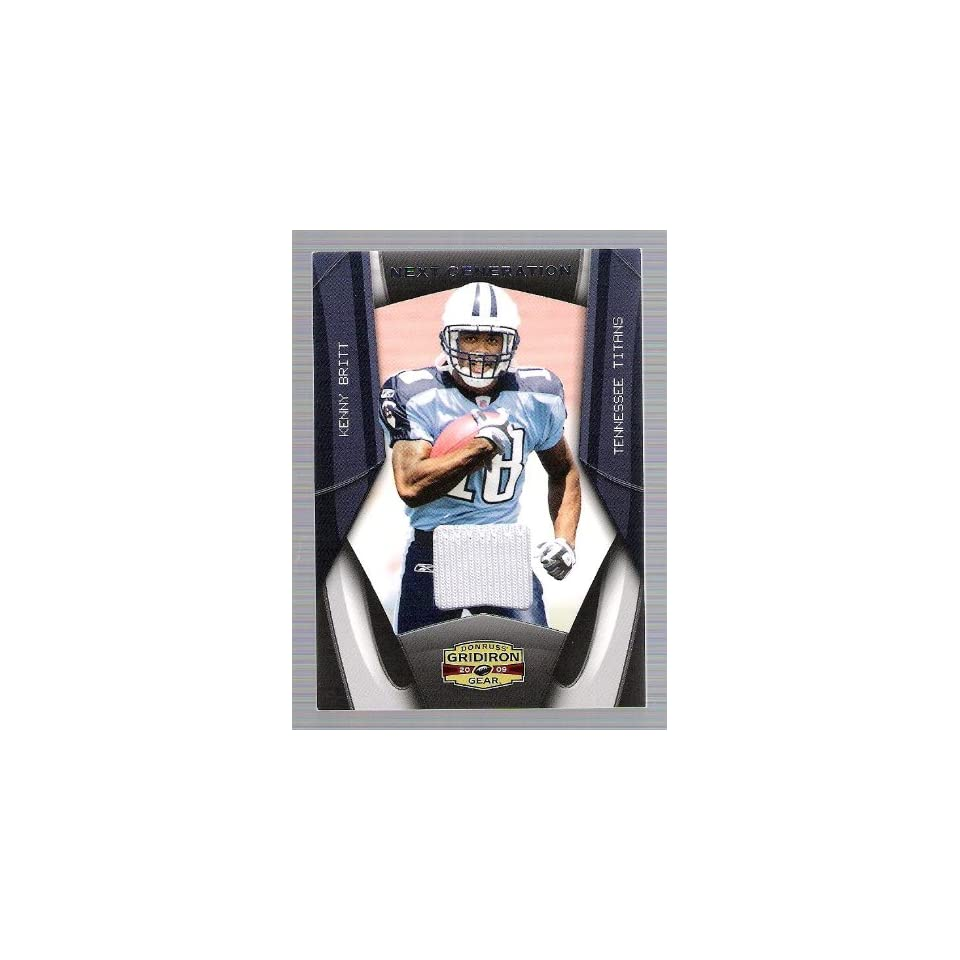 Donruss Gridiron gear   Kenny Britt   Game Used Jersey Card   # 10/50