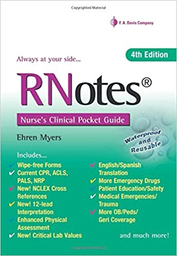 RNotesR Nurses Clinical Pocket Guide 4th Edition