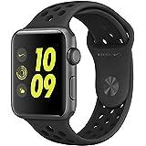 Apple Watch Nike+ 42mm スペースグレイアルミニウムケースとアンスラサイト/ブラックNikeスポーツバンド MQ1M2J/A
