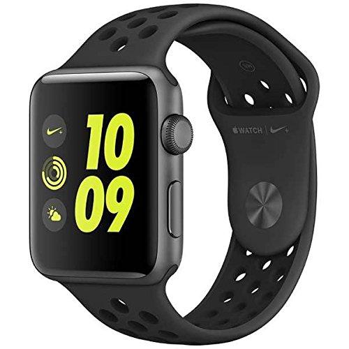 Apple Watch Nike+ 42mm スペースグレイアルミニウムケースとアンスラサイト/ブラックNikeスポーツバンド MQ1M2J/Aの商品画像