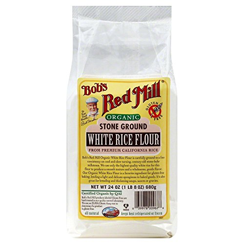 Bobs Red Mill Flour White Rice Stone Ground Organic 24.0 OZ(Pack of 6) by Bob's Red Mill