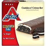 Atkins Meal Bars, Cookies n' Creme, 1.8oz Bar, 5 Count