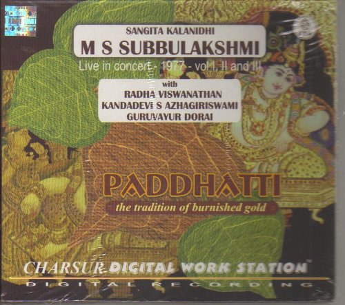 Paddhatti - The Tradition Of Burnished Gold - M S Subbulakshmi, Live In Concert 1977 (3-CD Pack) by Charsur Digital