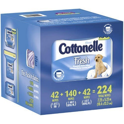 Kleenex Cottonelle Fresh Flushable Moist Wipes - Total: 224 ct.