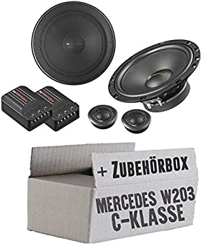 Lasse W203 Front Lautsprecher Boxen Helix Match Ms62c 16cm 2 Wege Lautsprechersystem Auto Einbauzubehör Einbauset Für Mercedes C Klasse Just Sound Best Choice For Caraudio Navigation