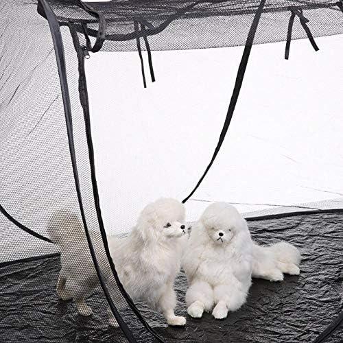Volwco Tente de Camping Pliable en Maille Respirante pour Animal Domestique Intérieur/extérieur Portable Parc de Voyage pour Chiens, Chats, Oiseaux, perroquets, Tortues, Reptiles