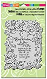 STAMPENDOUS Cling Rubber Stamp, Rose Wedding