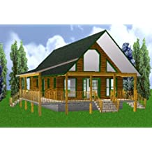 24x40 Country Classic 3 Bedroom 2 Bath Plans Package, Blueprints U0026 Material  List. By Easy Cabin Designs