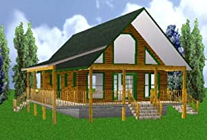 24x40 country classic 3 bedroom 2 bath plans for Easy cabin designs