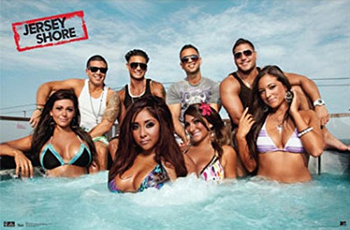 Jersey Shore Group Cast Hot Tub Season 3 TV Poster Print 34 x - The Shore Of Cast Jersey