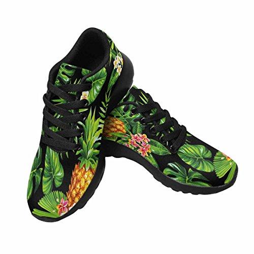 Interessante Donna Da Jogging Corsa Sneaker Leggero Andare Facilmente A Piedi Casual Comfort Scarpe Da Corsa Hawaiian Ananas, Foglie Di Palma E Fiori Multi 1