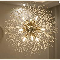 Garwarm Modern Firework Chandeliers,Crystal Chandelier Pendant Lighting,Ceiling Lights Fixtures for Living Room Bedroom Restaurant,9-Light