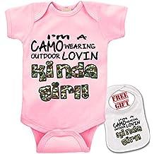 """""""Camo outdoor kinda girl"""" Unisex Baby bodysuit onesie by Bazooka"""