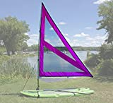 NEW! Spirit Large Paddle Board Sail Kit (Purple) with Telescoping Mast and Boom - Compact, Portable, Easy to set up design!