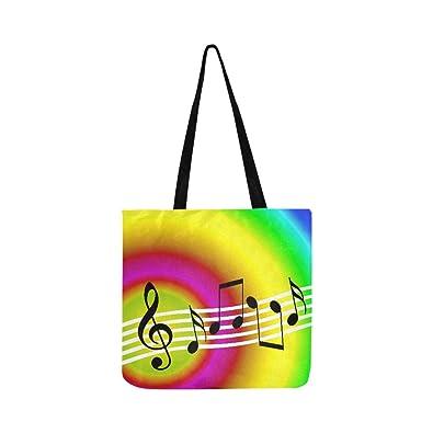 Amazon com: Random Musical Symbols With Rainbow Music Background