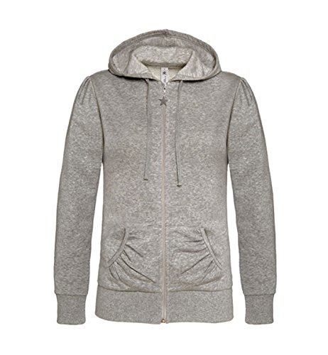 Suéter con capucha para Mujer Sweatshirt Zip Hoodie Heather Grey